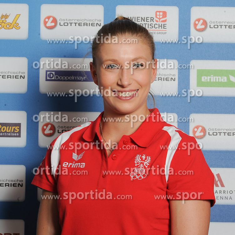 17.07.2016, Hotel Mariott, Wien, AUT, Olympia, Rio 2016, Einkleidung OeOC, im Bild Ecker Lisa ( Turnen) // during the outfitting of the Austrian National Olympic Committee for Rio 2016 at the Hotel Mariott in Wien, Austria on 2016/07/17. EXPA Pictures © 2016, PhotoCredit: EXPA/ Erich Spiess