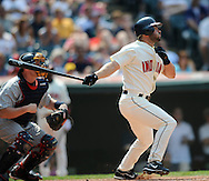 David Dellucci of Cleveland..The Minnesota Twins defeated the Cleveland Indians 4-2 on Sunday, July 27, 2008 at Progressive Field in Cleveland.