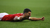 Eric Lichaj celebrates wildly with the rest of the City Ground after opening the scoring  during The Emirates FA Cup Third Round match between Nottingham Forest and Arsenal at City Ground on January 7, 2018 in Nottingham, England.