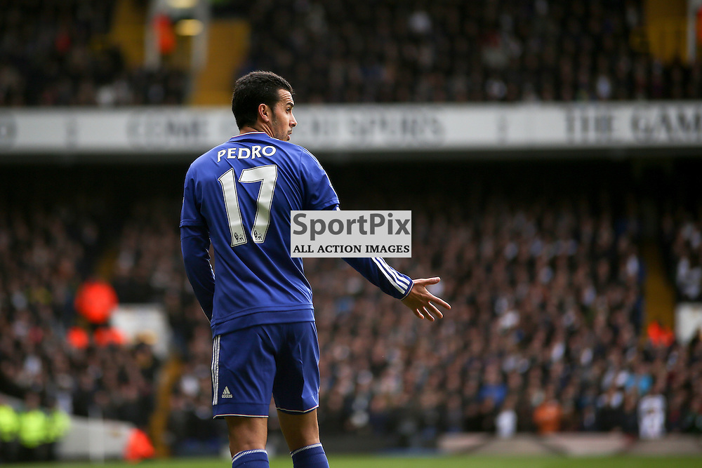 Pedro During Tottenham Hotspur vs Chelsea on Sunday the 29th November 2015.