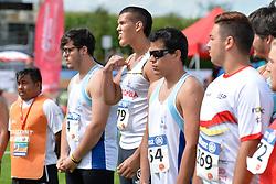 05/08/2017; Scarpetta Rojas, Juan Esteban, F12, COL, Ortiz, Antonio Alexis, F11, ARG, Moreno Sujar, Salvador, F13, ESP at 2017 World Para Athletics Junior Championships, Nottwil, Switzerland