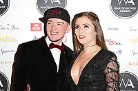 George Sampson, WhatsOnStage Awards, Prince of Wales Theatre, London UK, 25 February 2018, Photo by Richard Goldschmidt
