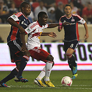 Lloyd Sam, New York Red Bulls, in action during the New York Red Bulls V New England Revolution, Major League Soccer regular season match at Red Bull Arena, Harrison, New Jersey. USA. 5th October 2013. Photo Tim Clayton