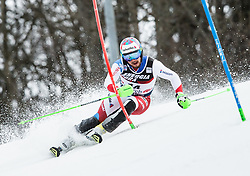 "Luca Aerni (SUI) competes during 1st Run of FIS Alpine Ski World Cup 2017/18 Men's Slalom race named ""Snow Queen Trophy 2018"", on January 4, 2018 in Course Crveni Spust at Sljeme hill, Zagreb, Croatia. Photo by Vid Ponikvar / Sportida"