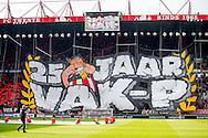 ENSCHEDE, FC Twente - Feyenoord, voetbal, Eredivisie seizoen 2015-2016, 10-04-2016, Stadion De Grolsch Veste, sfeer, groot spandoek met de tekst: 25 jaar Vak P.