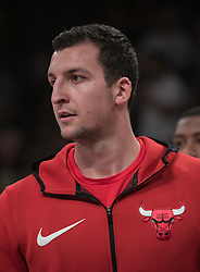 November 21, 2017 - Los Angeles, California, United States of America - Paul Zipser #16 of the Chicago Bulls during warm ups prior to their game with the Los Angeles Lakers on Tuesday November 21, 2017 at the Staples Center in Los Angeles, California. Lakers defeat Bulls, 103-94. JAVIER ROJAS/PI (Credit Image: © Prensa Internacional via ZUMA Wire)