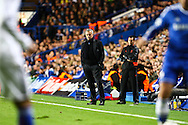 Picture by Daniel Chesterton/Focus Images Ltd +44 7966 018899<br /> 18/09/2013<br /> Chelsea manager Jos&eacute; Mourinho looks on during the UEFA Champions League match at Stamford Bridge, London.