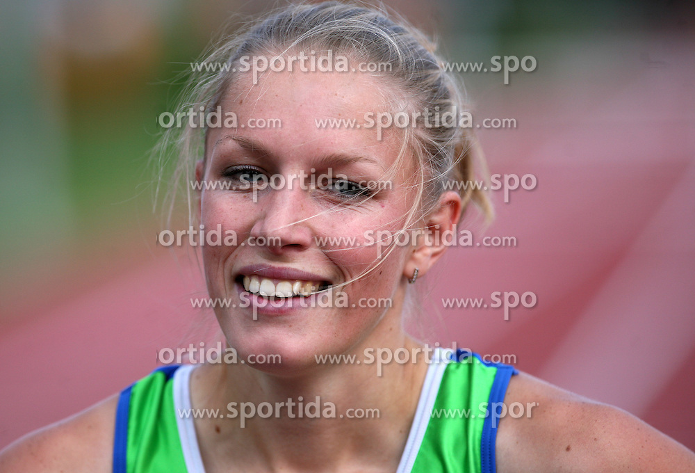 Sara Oresnik at Athletic National Championship of Slovenia, on July 20, 2008, in Stadium Poljane, Maribor, Slovenia. (Photo by Vid Ponikvar / Sportal Images).