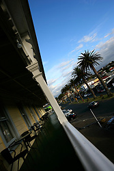 NEW ZEALAND RAGLAN 16DEC07 - Harbour View Hotel veranda overlooking the small town of  Raglan...jre/Photo by Jiri Rezac..© Jiri Rezac 2007..Contact: +44 (0) 7050 110 417.Mobile:  +44 (0) 7801 337 683.Office:  +44 (0) 20 8968 9635..Email:   jiri@jirirezac.com.Web:    www.jirirezac.com..© All images Jiri Rezac 2007 - All rights reserved.