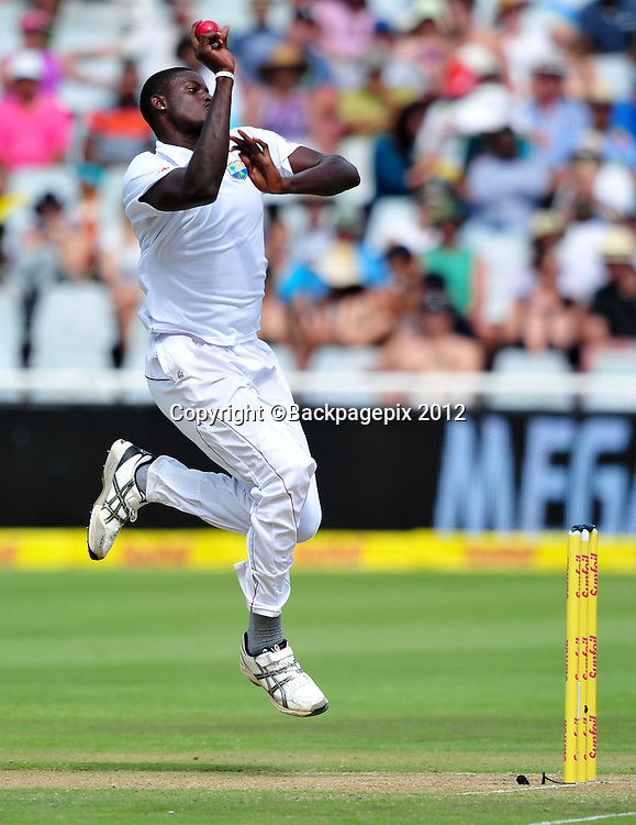 Jason Holder of West Indies during day 2 of the Sunfoil Test Series 2014/15 game between South Africa and the West Indies at Newlands Stadium, Cape Town on 3 January 2015 ©Ryan Wilkisky/BackpagePix