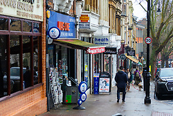 Hampstead high street with its cafes, artisan bakeries and butchers is just yards from  Willoughby Road ,Hampstead, in North London where a flat measuring 8ft 4in X 8ft 2in has gone on the market. Hampstead, London, January 25 2019.
