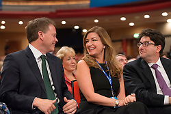 © Licensed to London News Pictures. 29/09/2014. Birmingham, UK. Grant Shapps, Karen Brady and Lord Feldman. The Conservative Party Conference in Birmingham 29th September 2014. Photo credit : Stephen Simpson/LNP