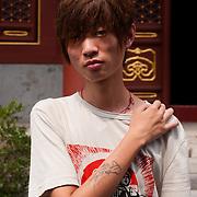 Chinese youth at Lama Temple, Beijing, China