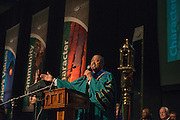 Ohio University President Roderick McDavis speaks at the First Year Student Convocation. Photo by Ben Siegel
