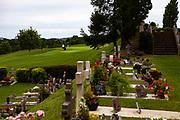 Golf course and cemetery, Arcangues, Pyrénées-Atlantiques, France