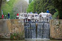 France, Aude (11), Canal du Midi, classé Patrimoine Mondial de l'UNESCO, écluse d'Argens // France, Languedoc-Roussillon, Aude (11), Canal du Midi, lock of Argens