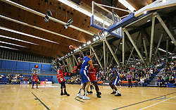 Players from both team fight for a rebound - Photo mandatory by-line: Arron Gent/JMP - 28/09/2019 - BASKETBALL - Crystal Palace National Sports Centre - London, England - London City Royals v Bristol Flyers - British Basketball League Cup