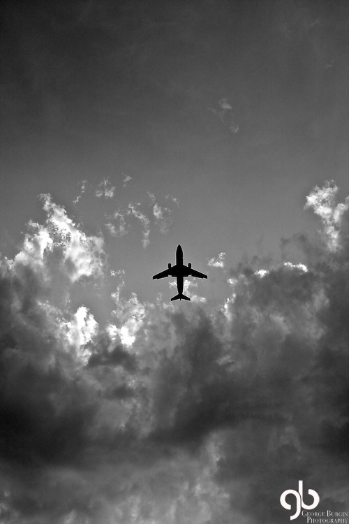 I was walking on Boot Hill and a plane flew overhead.  In an instant, I took this picture...
