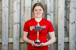 Sophie Baggaley receives her Player of the Month award for January 2019 - Ryan Hiscott/JMP - 25/02/2019 - SPORT - SGS College Filton - Bristol, England - Sophie Baggaley receives her Player of the Month award for January 2019