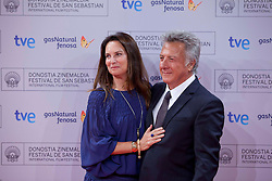 Actor Dustin Hoffman and wife during the Sebastian Film Festival, September 29, 2012. Photo By Nacho Lopez / DyD Fotografos / i-Images..SPAIN OUT