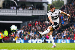 Joe Bryan of Fulham shoots at goal - Mandatory by-line: Robbie Stephenson/JMP - 26/08/2018 - FOOTBALL - Craven Cottage - Fulham, England - Fulham v Burnley - Premier League