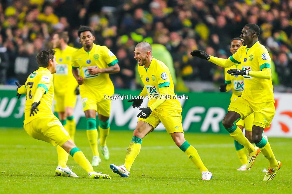 Joie Vincent BESSAT / groupe Nantes  - 20.01.2015 - Nantes / Lyon  - Coupe de France 2014/2015<br /> Photo : Vincent Michel / Icon Sport