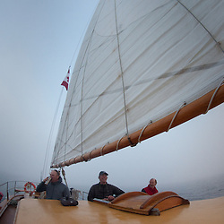 Sailing Boundary Pass, SV Maple Leaf, Gulf Islands, British Columbia, Canada