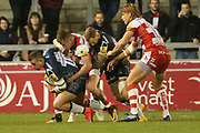 A Tarus held during the Aviva Premiership match between Sale Sharks and Gloucester Rugby at the AJ Bell Stadium, Eccles, United Kingdom on 29 September 2017. Photo by George Franks.
