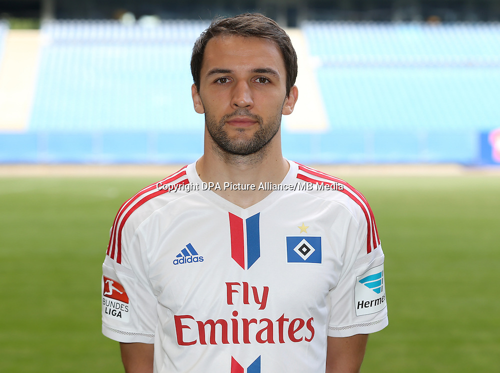 German Soccer Bundesliga - Photocall Hamburger SV on 22 July 2014 in Hamburg, Germany: Milan Badelj.