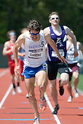 2011/05/28 - SUNY Fredonia's Nick Guarino wins the 800-meter final at the 2011 NCAA Division-3 Championships. Guarino ran 1:49.89, having already won the 1500-meter run in 3:53.43, just eighty minutes earlier. Guarino was the first Division-3 runner to win both events since Nick Symmonds in 2006.