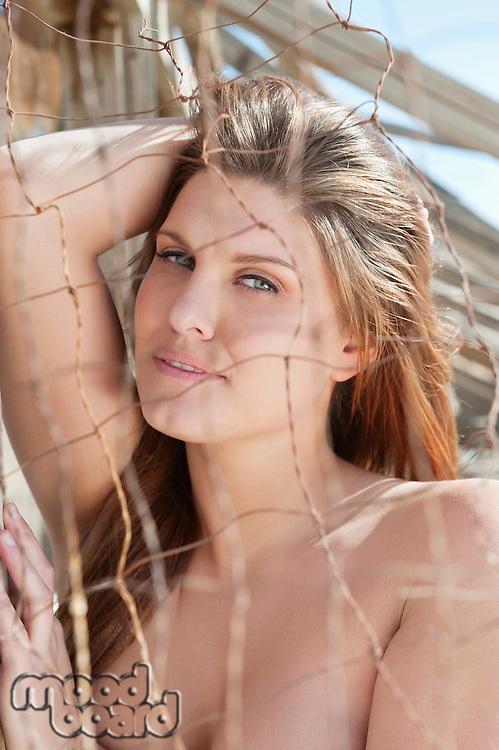 Portrait of a sensuous young woman
