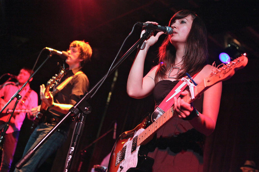 Leslie Sisson of The Wooden Birds performs onstage at The Bell House in Brooklyn, NY.