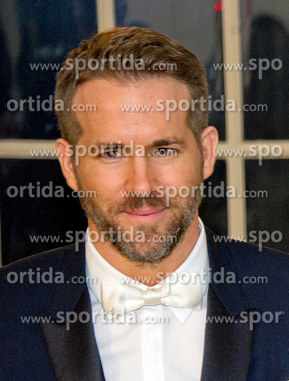 Actor Ryan Reynolds arrives for the State Dinner in honor of Prime Minister Trudeau and Mrs. Sophie Gr&eacute;goire Trudeau of Canada at the White House in Washington, DC on Thursday, March 10, 2016. EXPA Pictures &copy; 2016, PhotoCredit: EXPA/ Photoshot/ Ron Sachs<br /> <br /> *****ATTENTION - for AUT, SLO, CRO, SRB, BIH, MAZ, SUI only*****