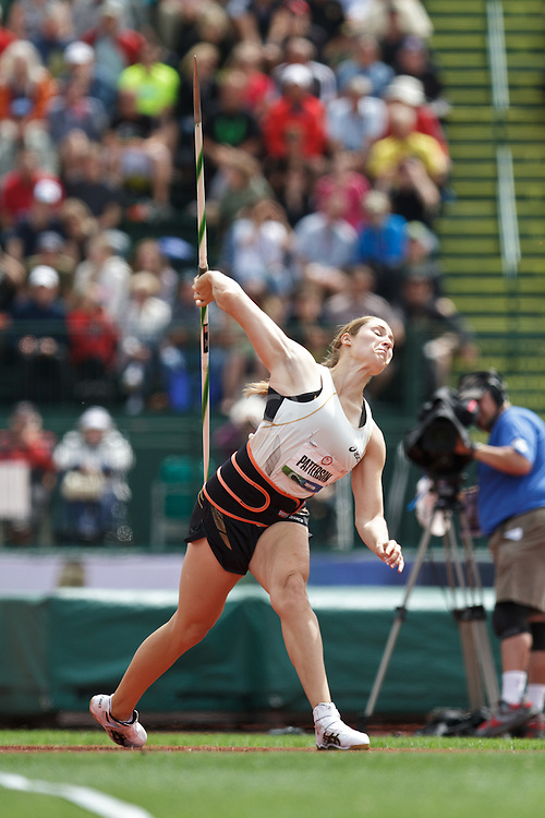2012 USA Track & Field Olympic Trials: women's Javelin, Kara Patterson, 2nd, Olympian,