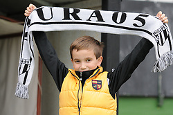 Fan of Mura 05 before football match between NK Mura 05 and NK Rudar in 19th Round of Slovenian First League PrvaLiga NZS 2012/13 on November 18, 2012 in Murska Sobota, Slovenia. (Photo By Ales Cipot / Sportida)..