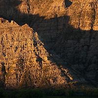 Gist Bottom, sun rising on bluffs, Upper Missouri RIver Breaks National Monument, Montana, Wild and Scenic Missouri River