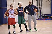 Debora Carangelo, Giorgia Sottana, Giovanni Lucchesi<br /> Nazionale Femminile Senior <br /> Allenamento FIBA Women's EuroBasket 2019 Qualifiers<br /> FIP 2017<br /> Roma 06/11/2017<br /> Foto M.Ceretti / Ciamillo-Castoria