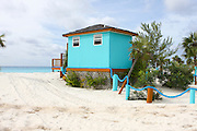 colourful turquoise Beach house