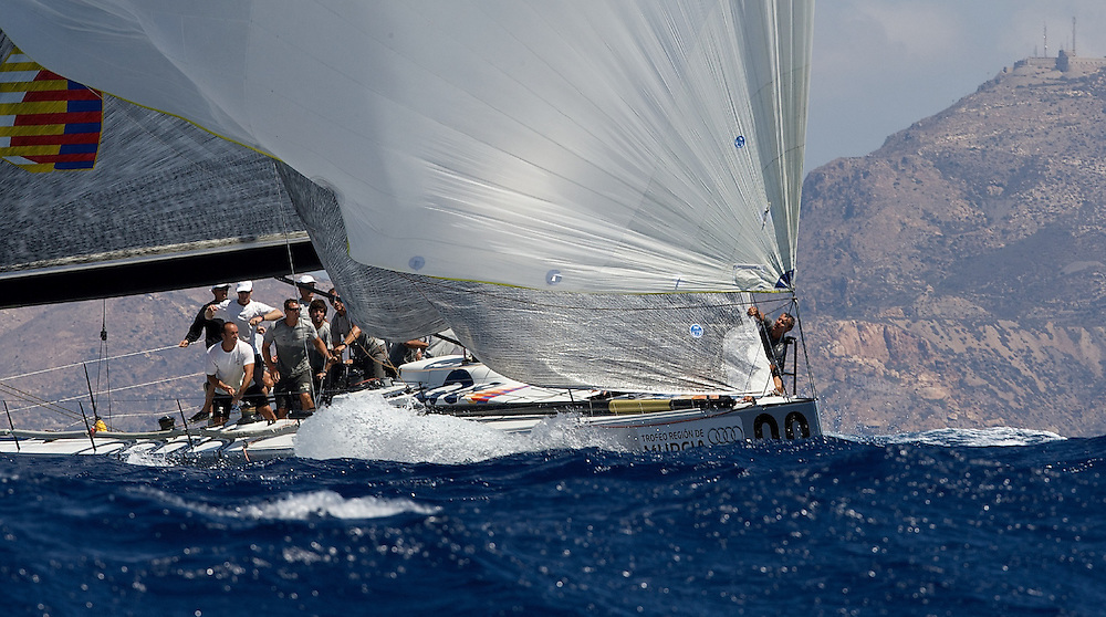 SPAIN, Carthagena, August 26th 2008, AUDI Medcup, Region of Murcia Trophy, Race 1, Audi TP52 Powered by Q8 (ITA)