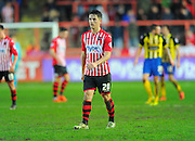 Exeter City's Tom Nichols during the Sky Bet League 2 match between Exeter City and Dagenham and Redbridge at St James' Park, Exeter, England on 2 January 2016. Photo by Graham Hunt.