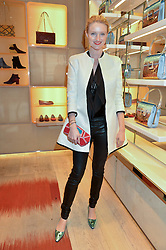 CANDICE LAKE at the Roger Vivier 'The Perfect Pair' Frieze cocktail party celebrating Ambra Medda & 'Miss Viv' at the Roger Vivier Boutique, Sloane Street, London on 15th October 2014.