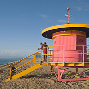 Whimsical Lifeguard Hut at Miami Beach, Florida