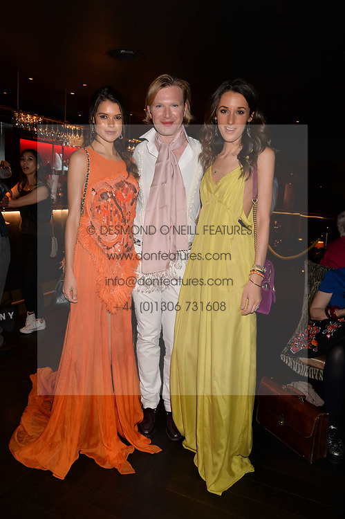 Sarah Ann Macklin, Henry Conway and Rosanna Falconer at the Quaglino's Q Legends Summer Launch Party hosted by Henry Conway at Quaglino's, 16 Bury Street, London England. 18 July 2017.<br /> Photo by Dominic O'Neill/SilverHub 0203 174 1069 sales@silverhubmedia.com