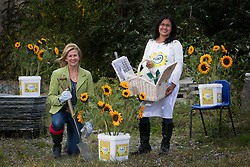Repro Free: 21 Oct 2013 &quot;Could your local community use a makeover?&quot; Super Garden&rsquo;s Lisa McKnight and Masterchef&rsquo;s Nicha Maguire pictured at the launch of the Flora Sunflower Makeover, which offers one lucky community the chance to transform a rundown area into an attractive, family-friendly space.<br /> To be in with a chance to win this great prize, entrants simply submit a picture of the space in their area that needs attention and explain why their community deserves a Flora Sunflower Makeover. The entry can either be posted through Facebook at www.facebook.com/FloraWomensMiniMarathon.com, or simply e-mailed to entry@florasunflowermakeover.com.  Picture Andres Poveda<br /> <br /> - ends -<br /> <br /> For further information please contact:<br /> Lisa Porter / Breda Brown<br /> Unique Media Tel: 01 522 5200, 087 7444067 (Lisa)
