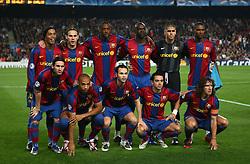Barcelona v Rangers (2-0) Champions League 07/11/2007.Barcelona team group.