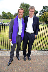 Left to right, JOEL CADBURY and ZAC GOLDSMITH at the unveiling of 'Isis' a sculpture by Simon Gudgeon hosted by the Royal Parks Foundation and the Halcyon Gallery by the banks of The Serpentine, Hyde Park, London on 7th September 2009.