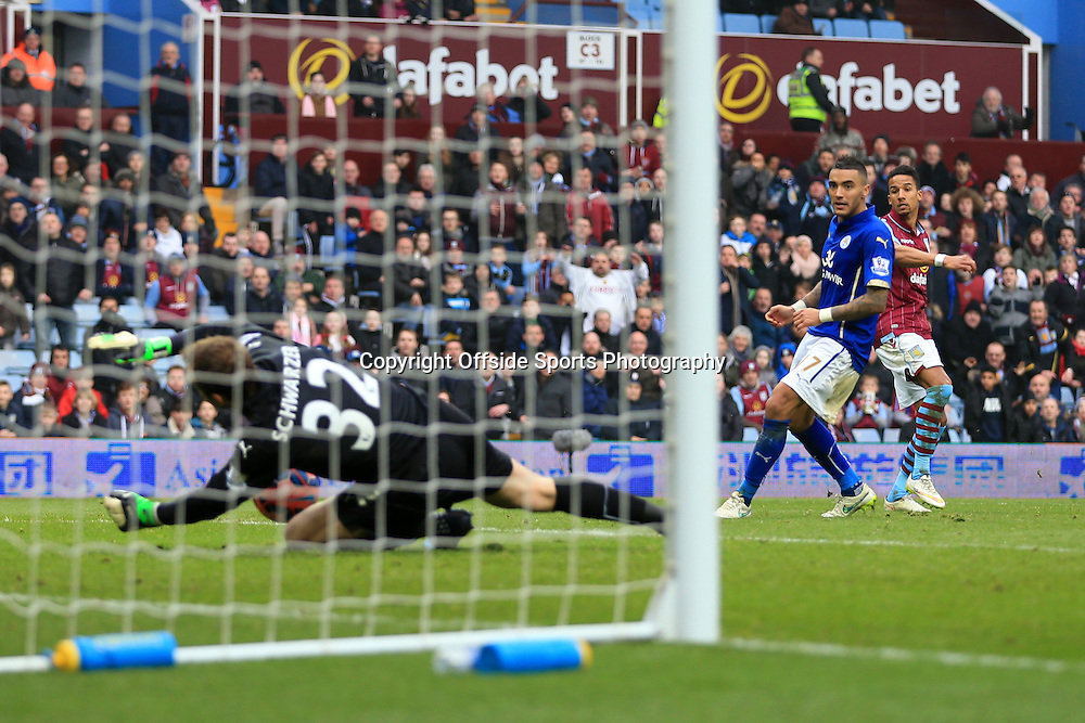15th February 2015 - FA Cup 5th Round - Aston Villa v Leicester City - Scott Sinclair of Villa scores their 2nd goal - Photo: Simon Stacpoole / Offside.