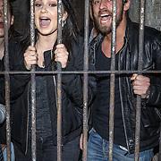 NLD/Amsterdam/20151221 - Roxeanne Hazes beleeft spannende nacht in The Amsterdam Dungeon