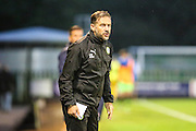 Forest Green Rovers assistant manager, Scott Lindsey during the Gloucestershire Senior Cup match between Forest Green Rovers and Cheltenham Town at the New Lawn, Forest Green, United Kingdom on 20 September 2016. Photo by Shane Healey.