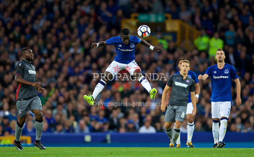 LIVERPOOL, ENGLAND - Thursday, August 17, 2017: Everton's Idrissa Gana Gueye during the UEFA Europa League Play-Off 1st Leg match against HNK Hajduk Split at Goodison Park. (Pic by David Rawcliffe/Propaganda)